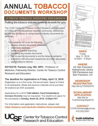The Annual Tobacco Documents Workshop The Loop Health Equity In